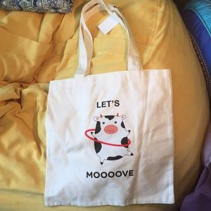 🐄Let's Moooove tote bag